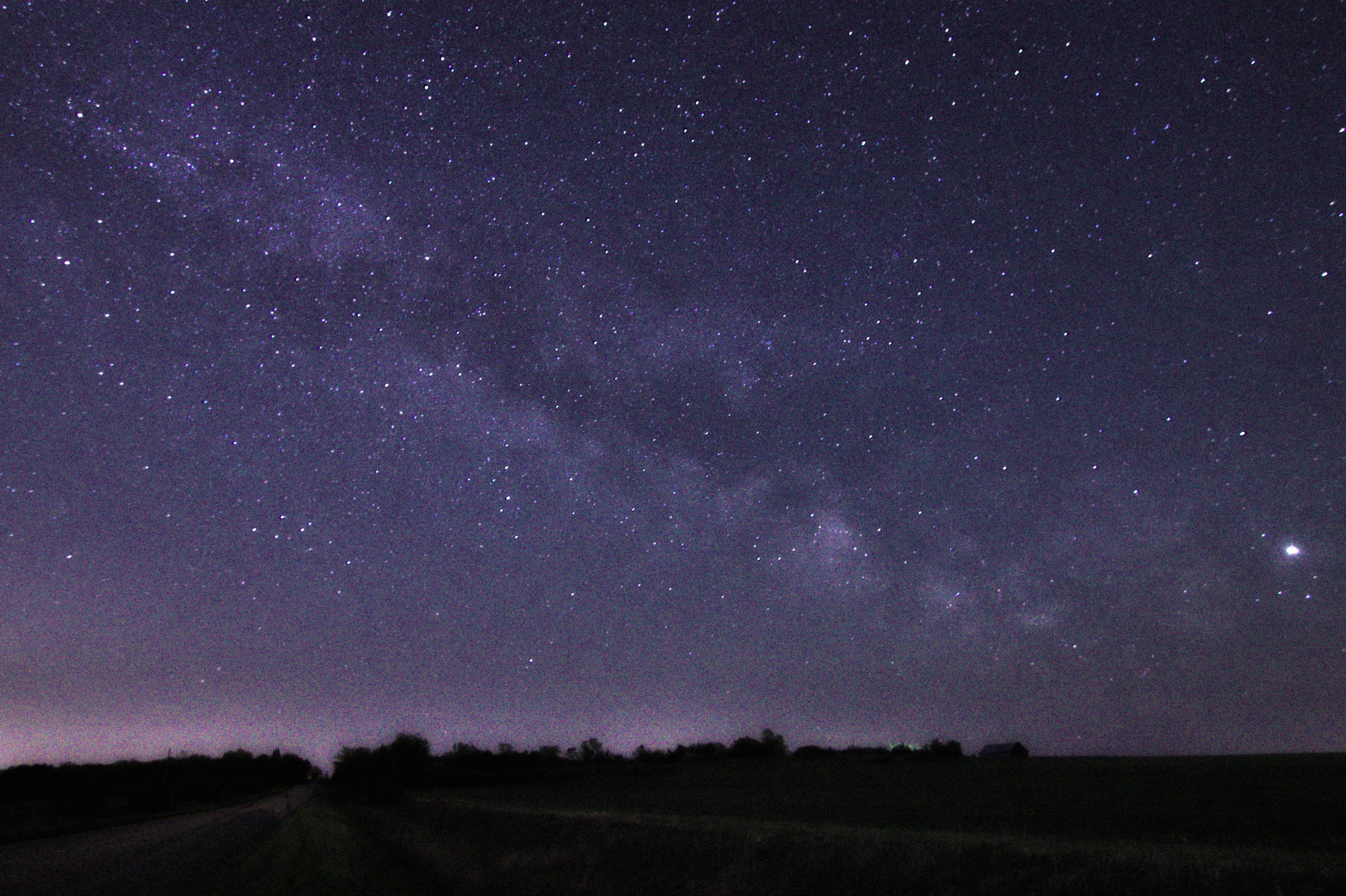 Night shot of the Milky Way