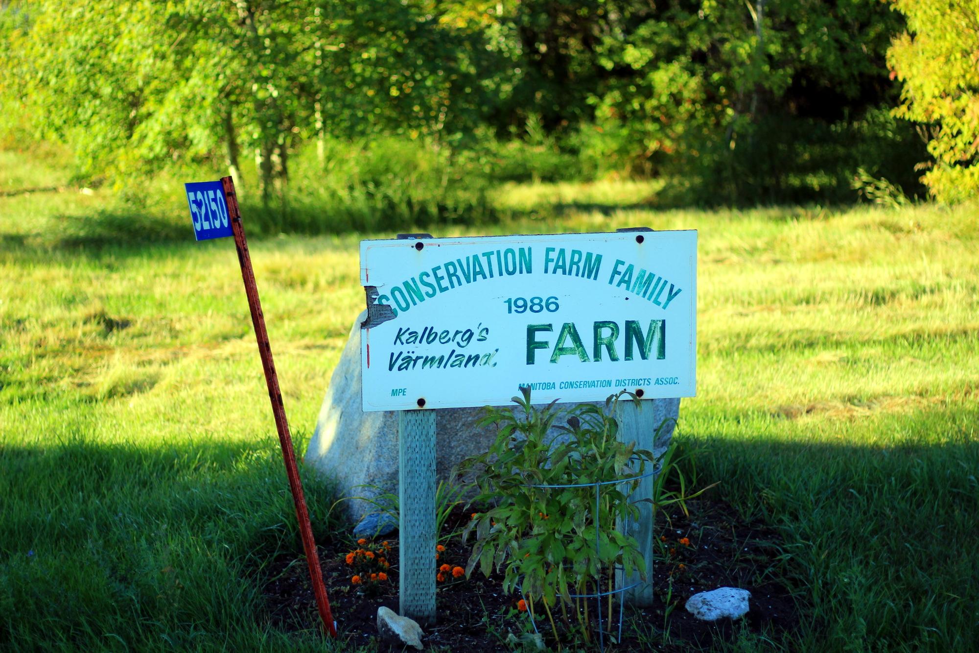 The sign for Kalbergs' Värmland Farm