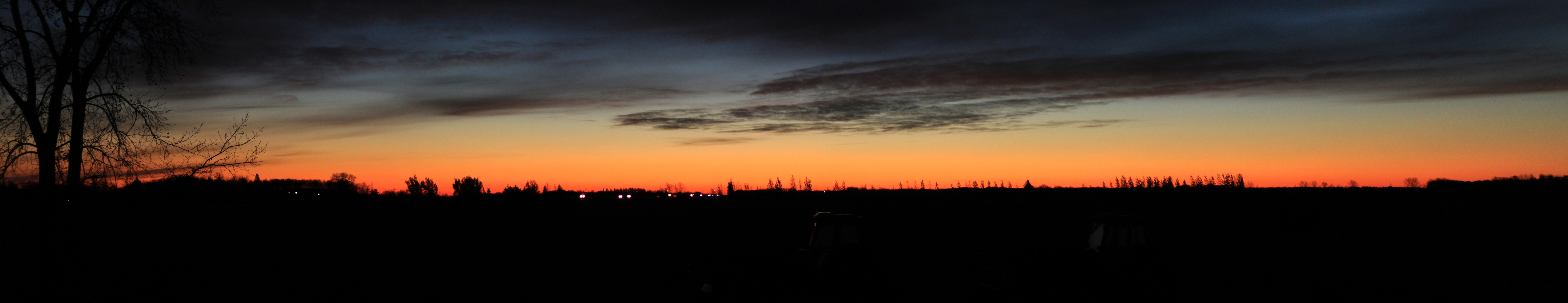 Sunrise at the Farm (panorama)