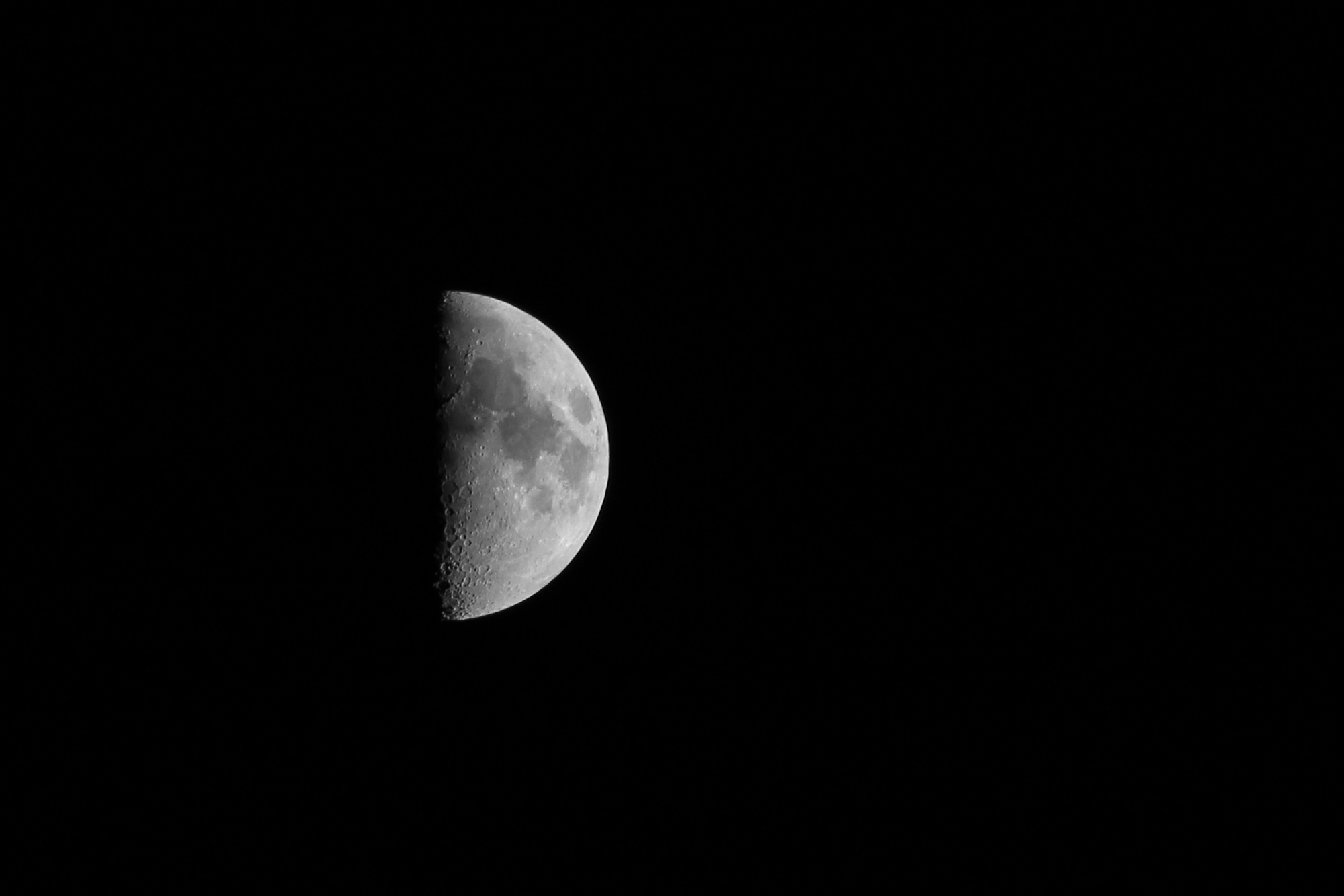 The Moon (b&w)
