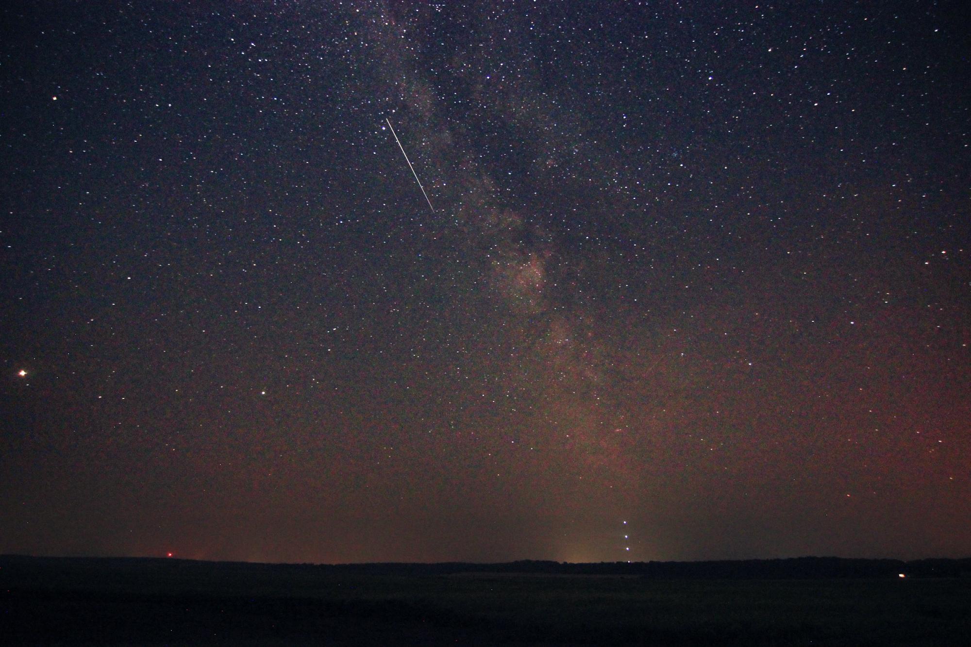The Milky Way on a hazy night